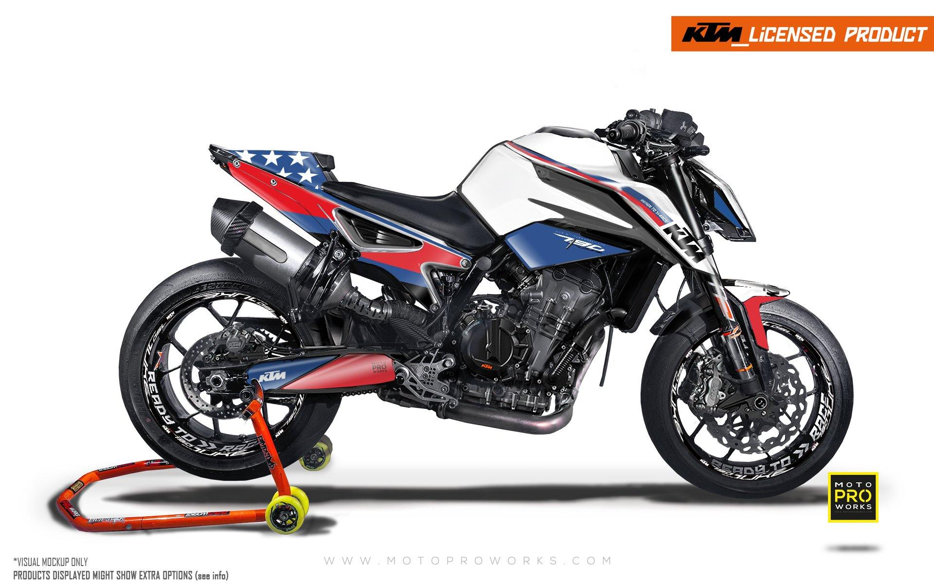 "KTM 790/890 R Duke GRAPHIC KIT - ""En Route"" (Stars)"