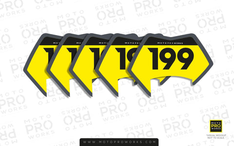 "Individual ID Stickers - ""Medium Badges"" (85mm or 115mm size) - MotoProWorks 
