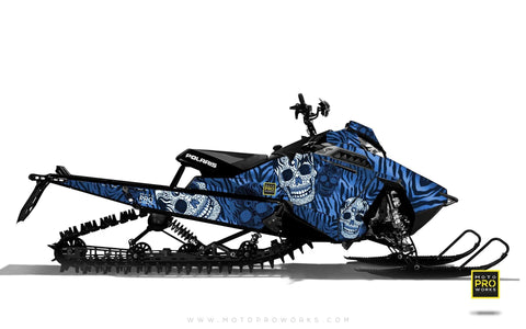 "Polaris Graphics - ""Fiesta"" (blue solid) - MotoProWorks 