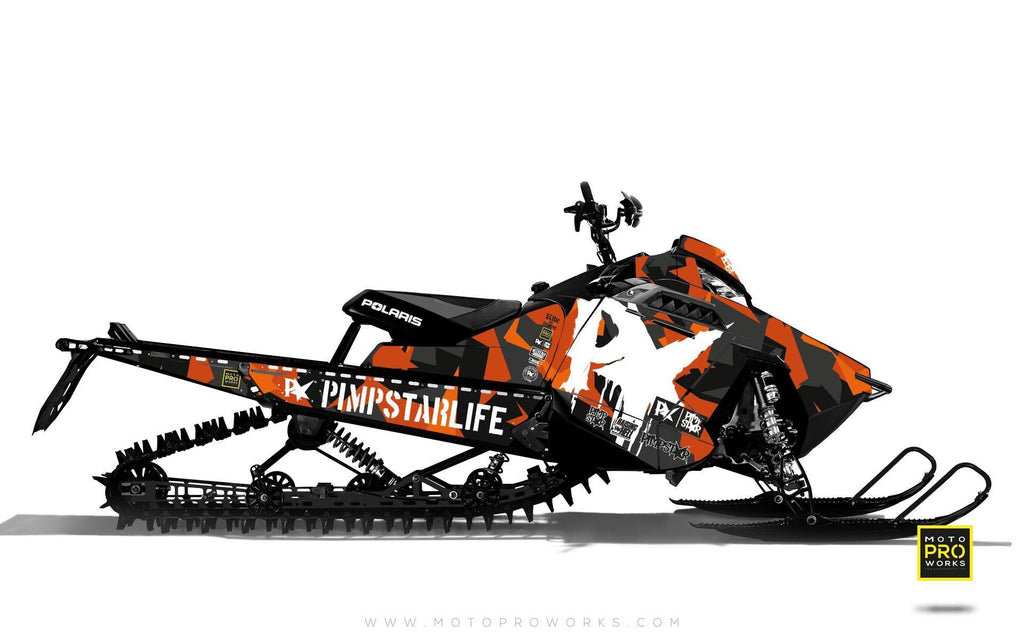 "Polaris Graphics - ""M90"" (orange) - MotoProWorks 