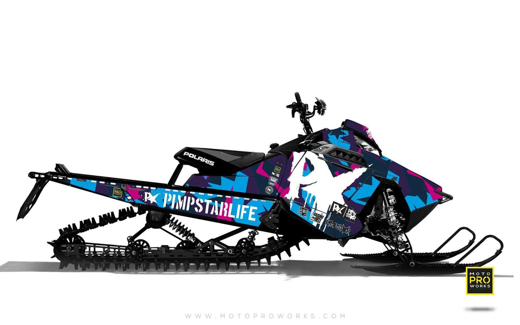 "Polaris Graphics - ""M90"" (pink) - MotoProWorks 