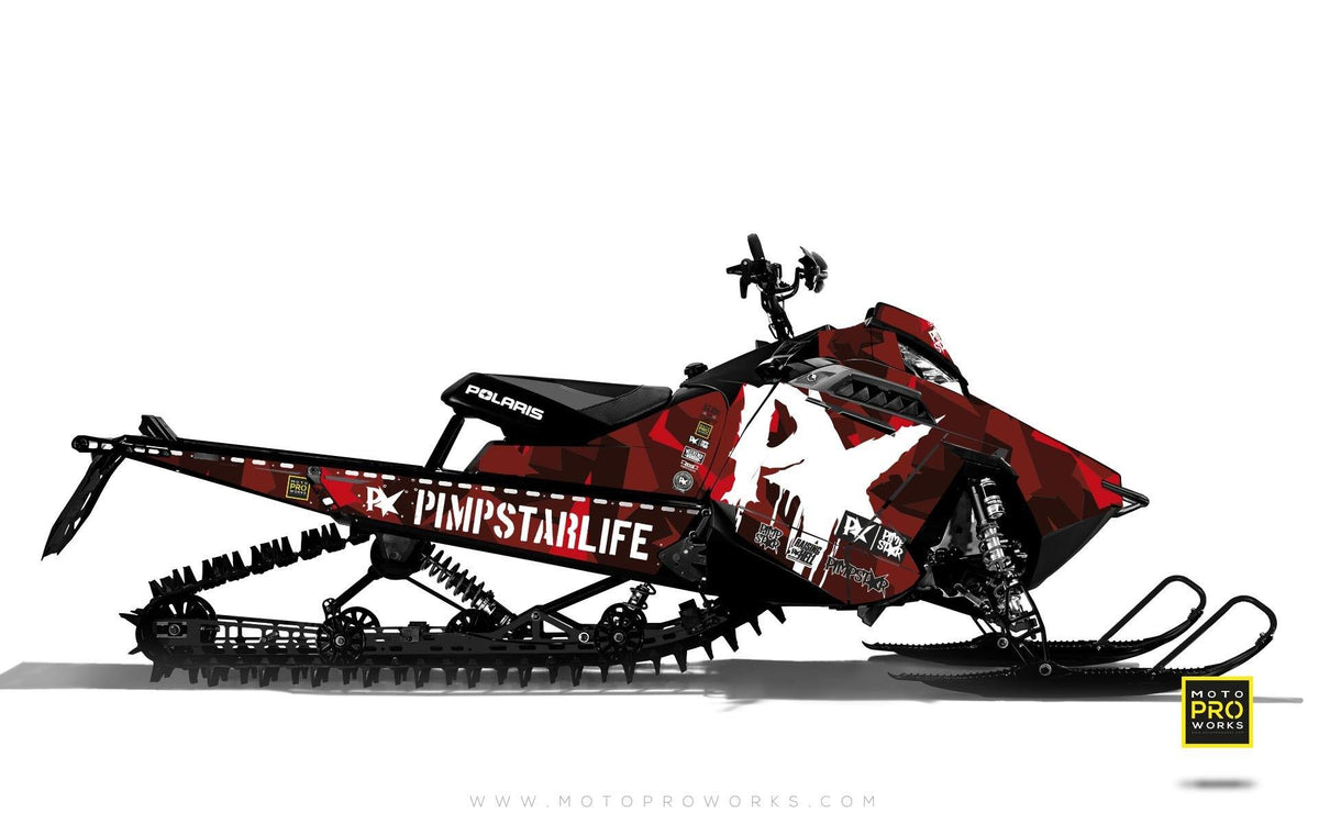 "Polaris Graphics - ""M90"" (red) - MotoProWorks 