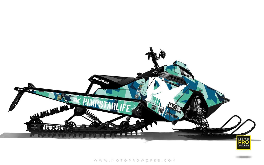 "Polaris Graphics - ""M90"" (turquoise) - MotoProWorks 