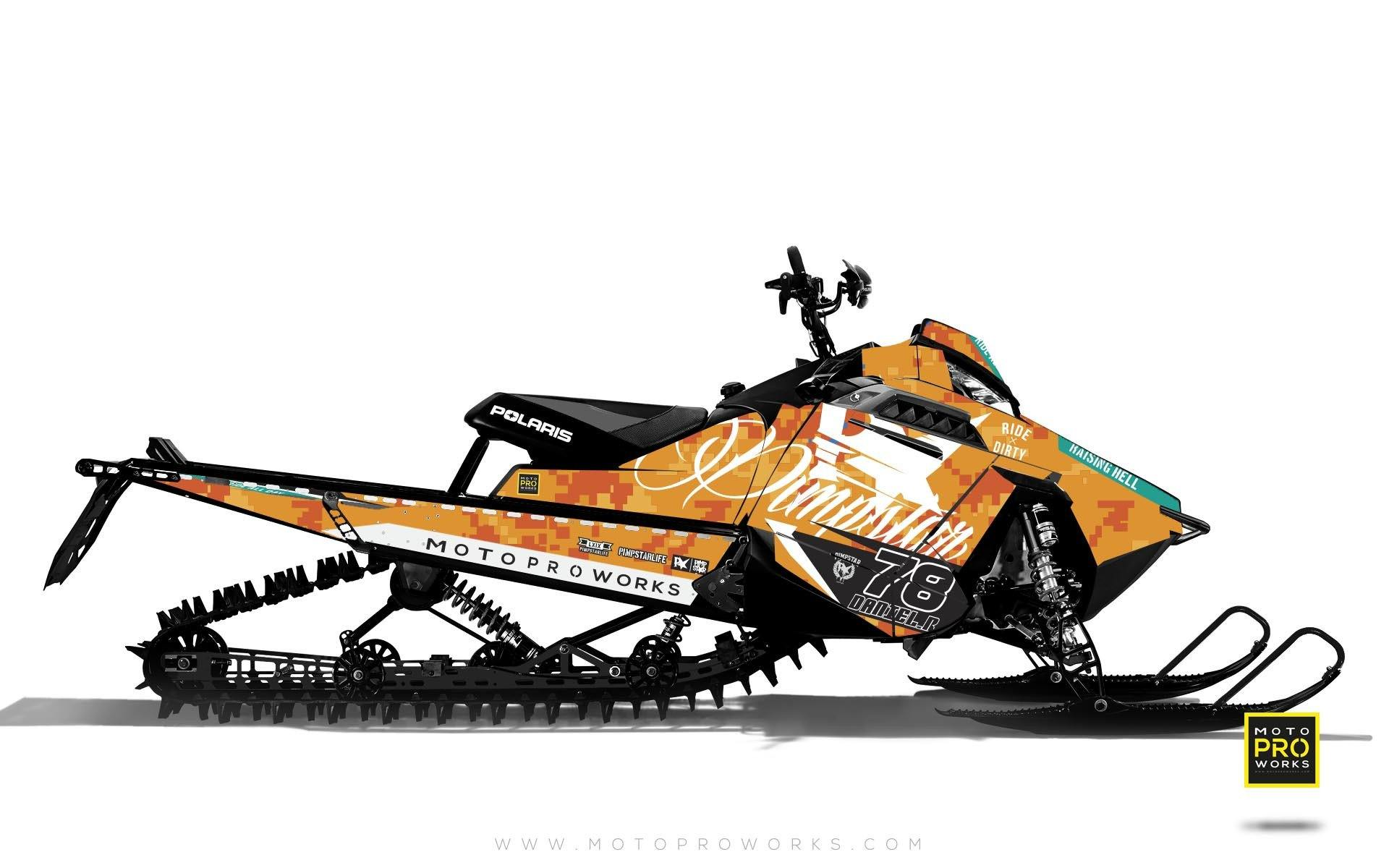 "Polaris Graphics - ""Marpat"" (orange) - MotoProWorks 