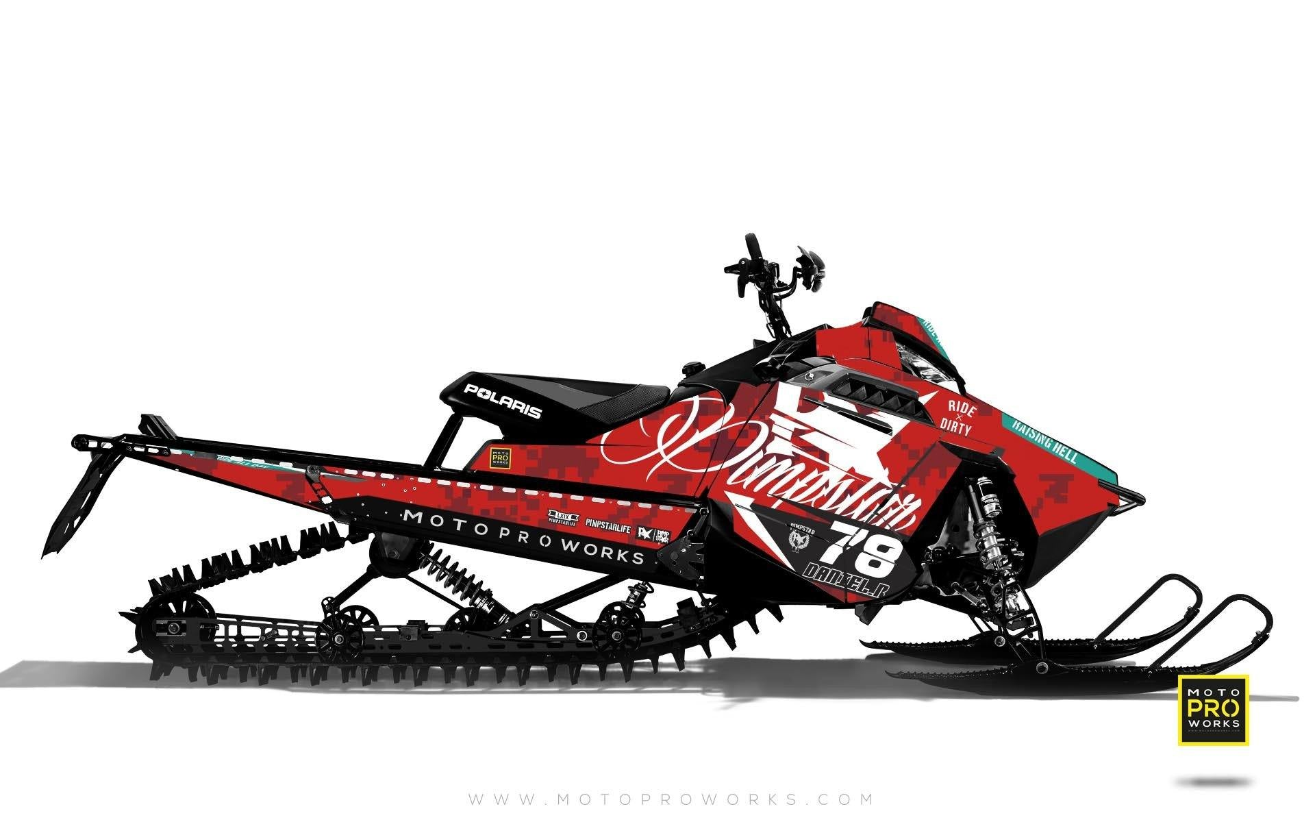 "Polaris Graphics - ""Marpat"" (red) - MotoProWorks 