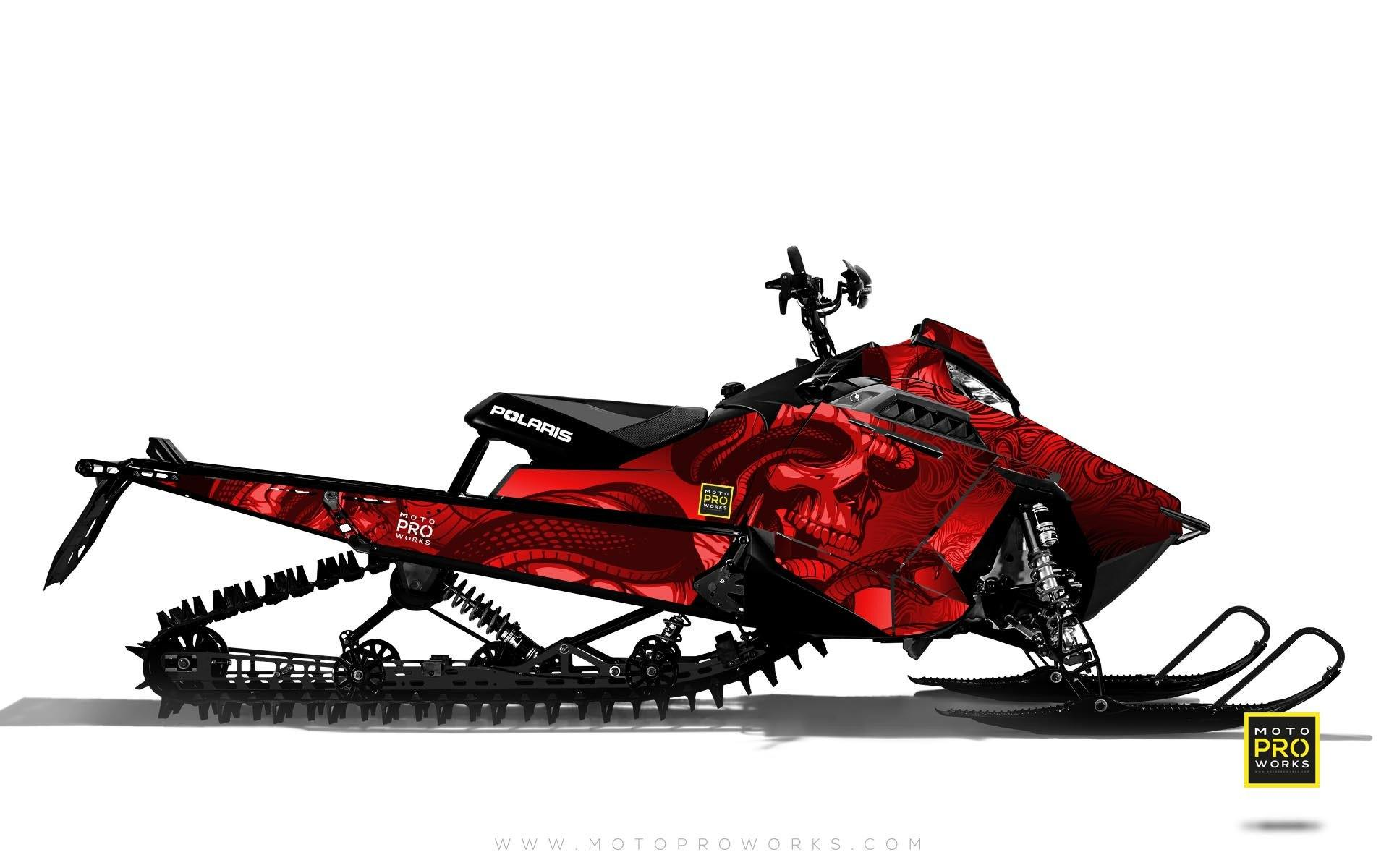 "Polaris Graphics - ""Ssskully"" (red) - MotoProWorks 