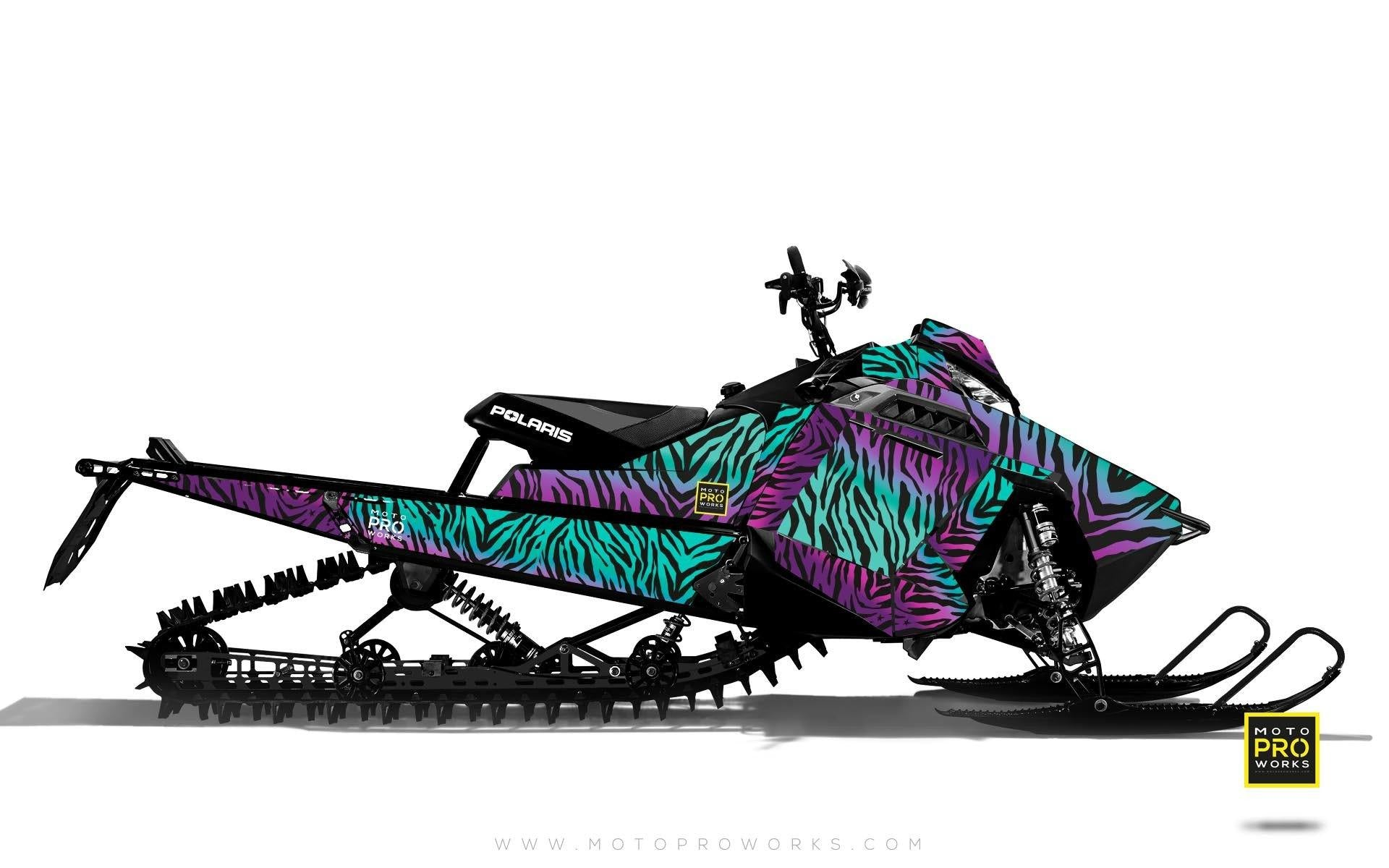 "Polaris Graphics - ""Stripey"" (purple) - MotoProWorks 
