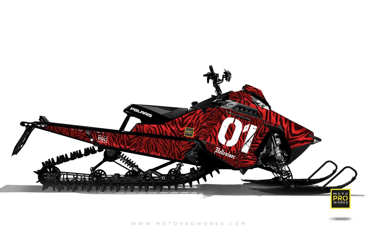 "Polaris Graphics - ""Stripey"" (red) - MotoProWorks 