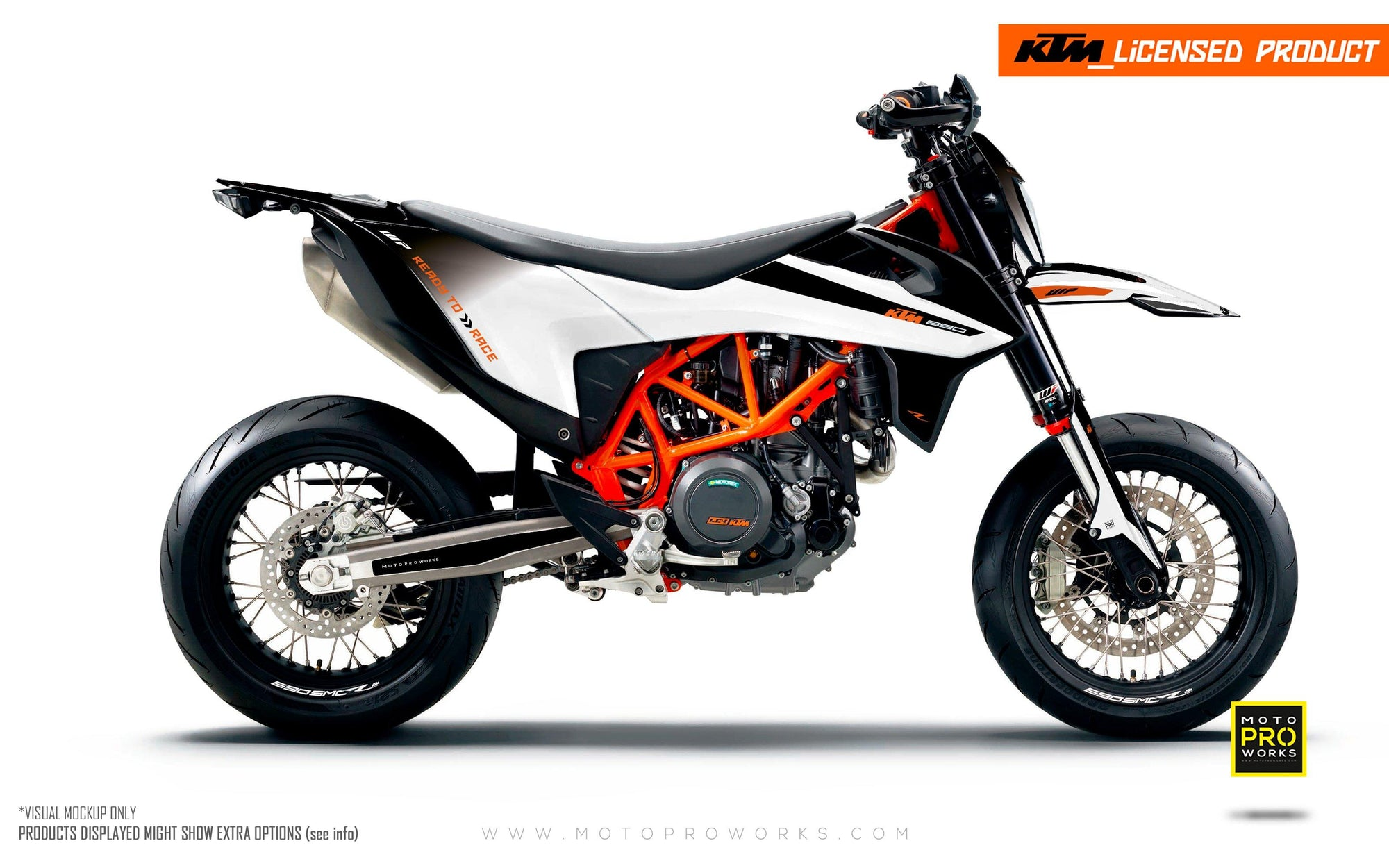 "KTM GRAPHIC KIT - ""RADIUS"" (black/white)"