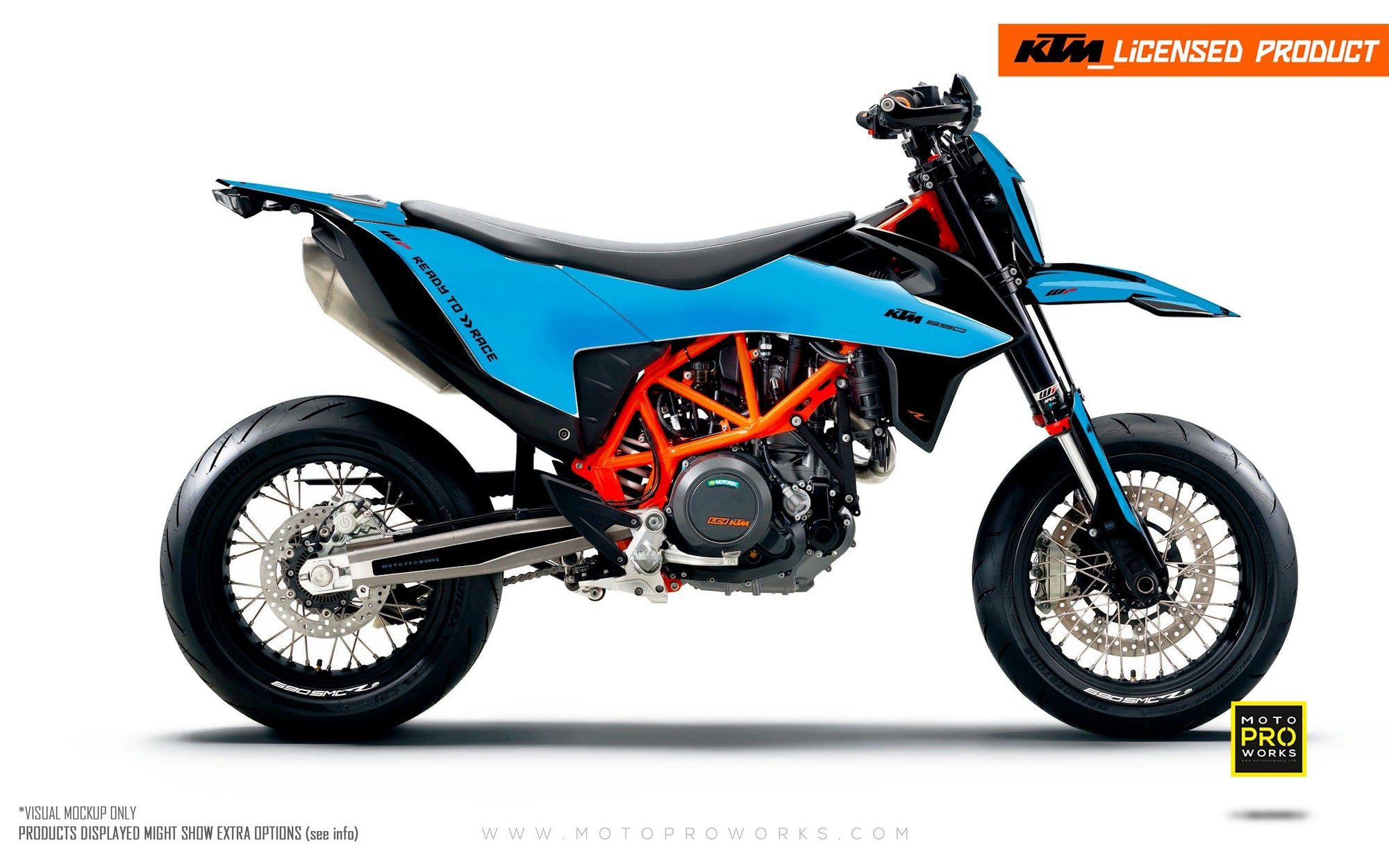 "KTM GRAPHIC KIT - ""RADIUS"" (blue)"