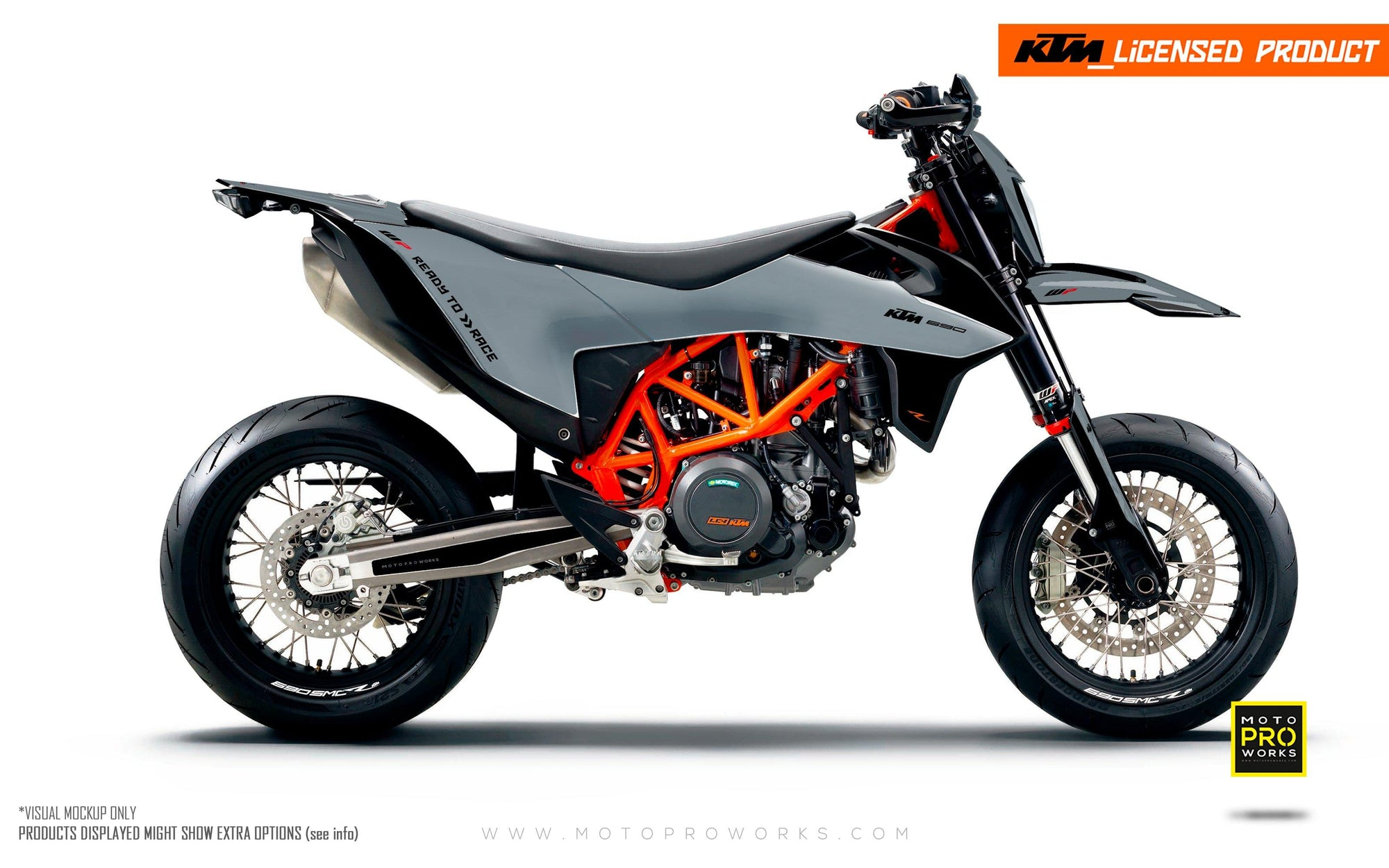 "KTM GRAPHIC KIT - ""RADIUS"" (grey)"