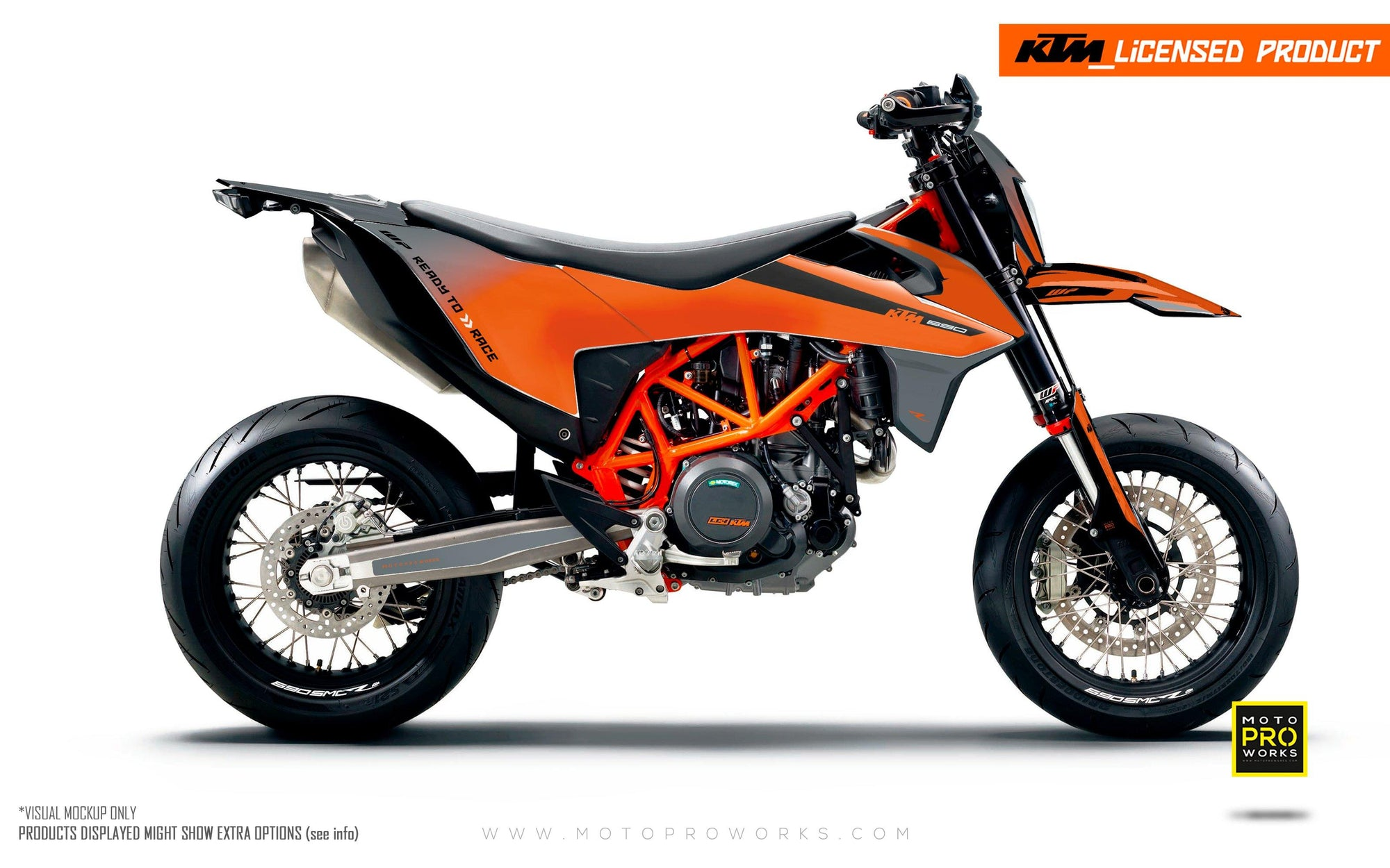"KTM GRAPHIC KIT - ""RADIUS"" (grey/orange)"