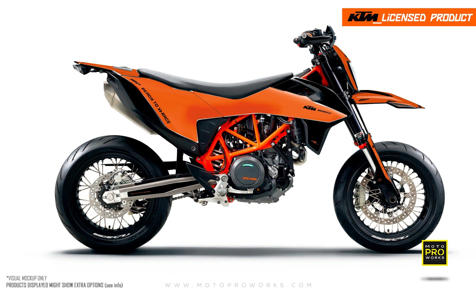 "KTM GRAPHIC KIT - ""RADIUS"" (orange)"