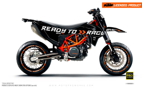 "KTM GRAPHIC KIT - 690 SMC-R ""Ready2Race"" (Black)"