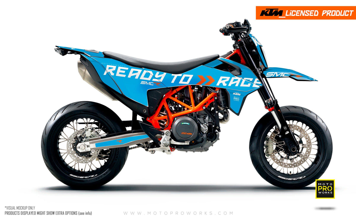 "KTM GRAPHIC KIT - 690 SMC-R ""Ready2Race"" (Blue)"