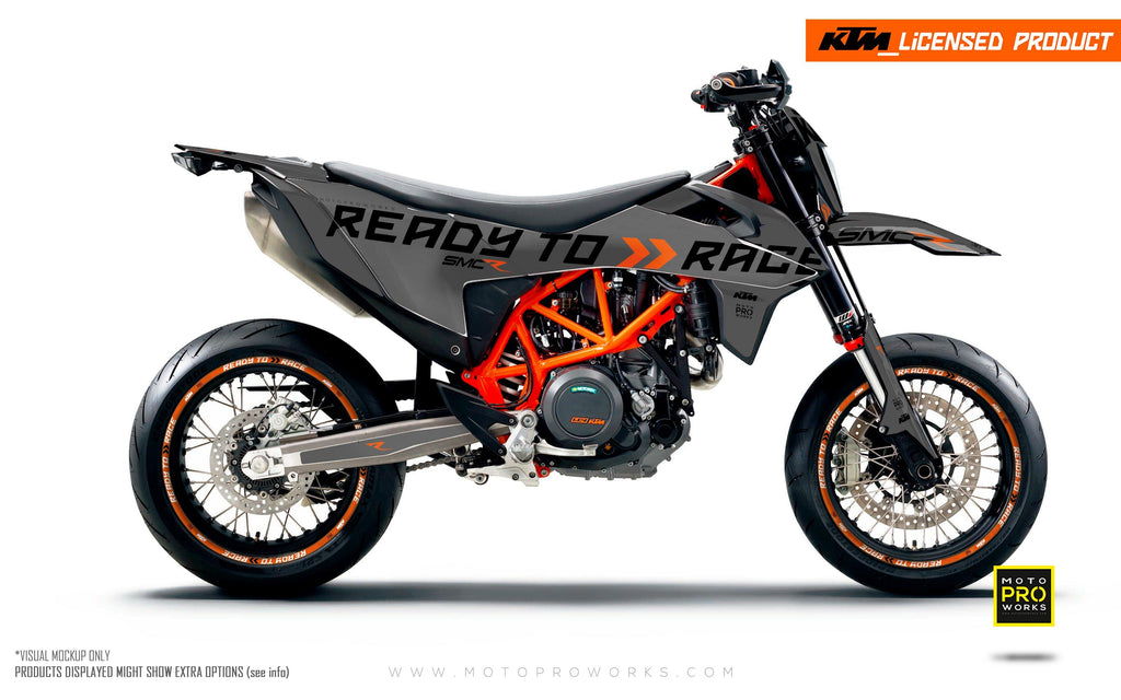 "KTM GRAPHIC KIT - 690 SMC-R ""Ready2Race"" (Grey)"