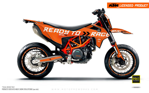 "KTM GRAPHIC KIT - 690 SMC-R ""Ready2Race"" (Orange)"