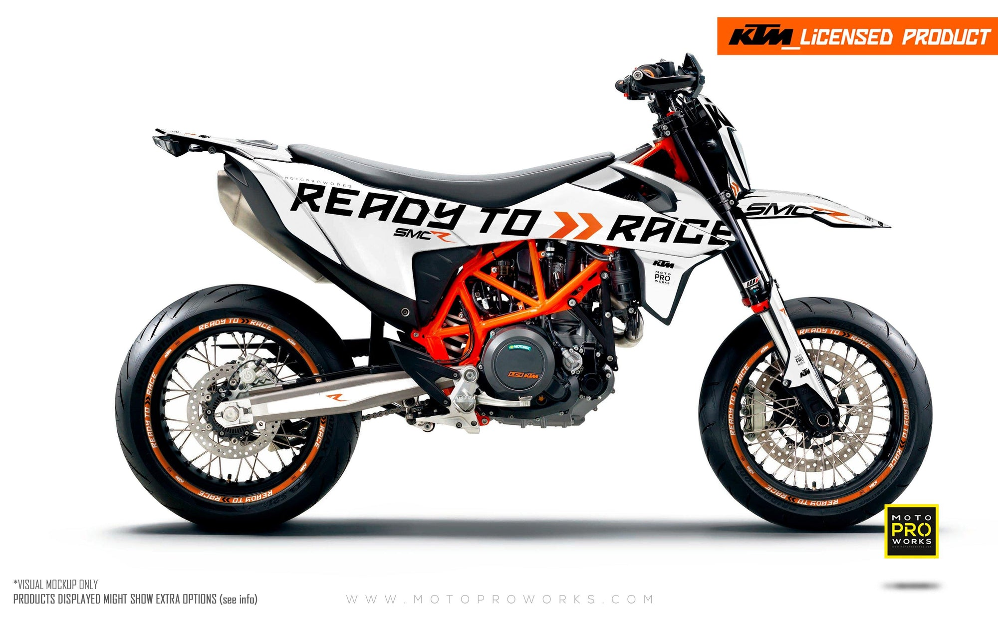 "KTM GRAPHIC KIT - 690 SMC-R ""Ready2Race"" (White)"