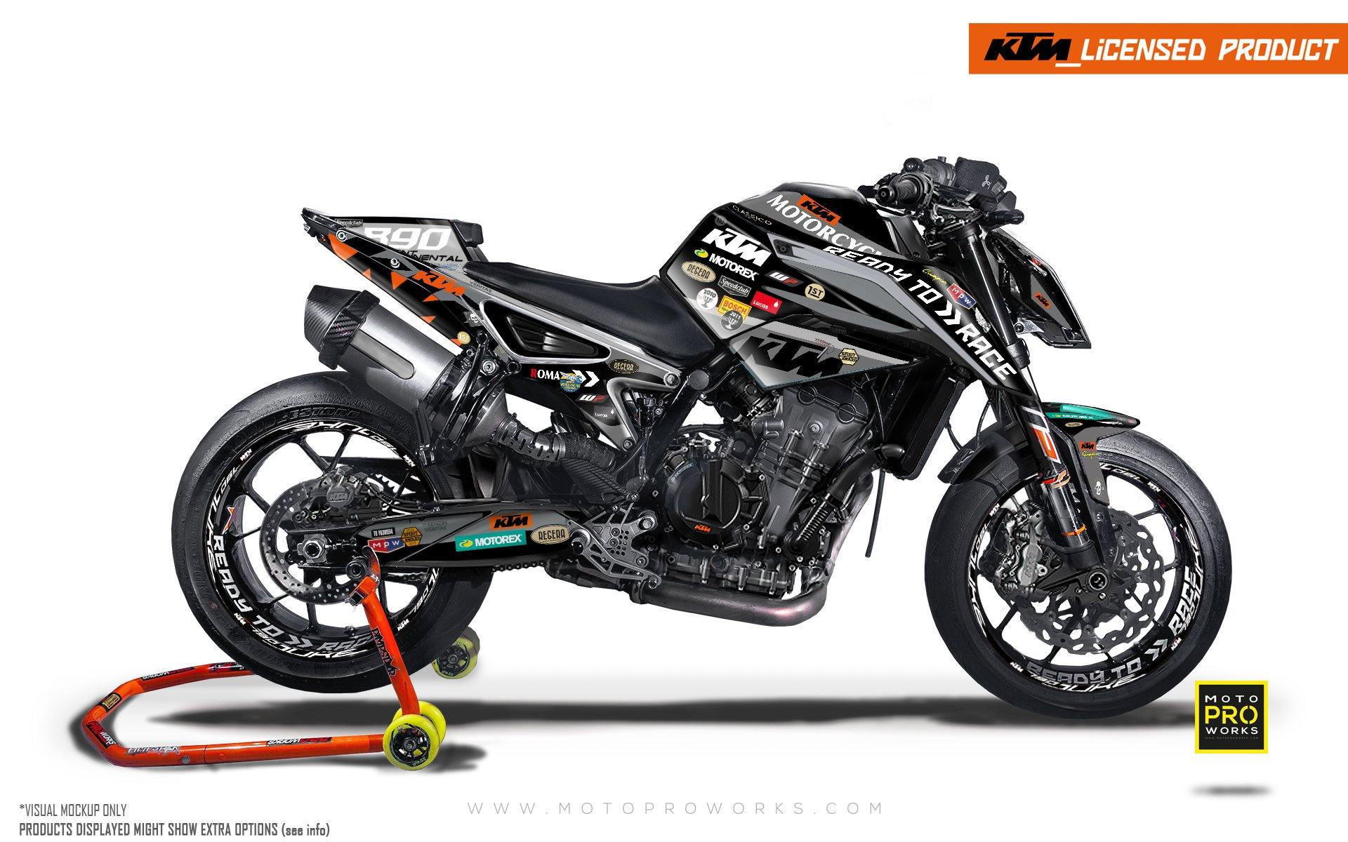 "KTM 790/890 R Duke GRAPHIC KIT - ""Regera"" (Grey)"