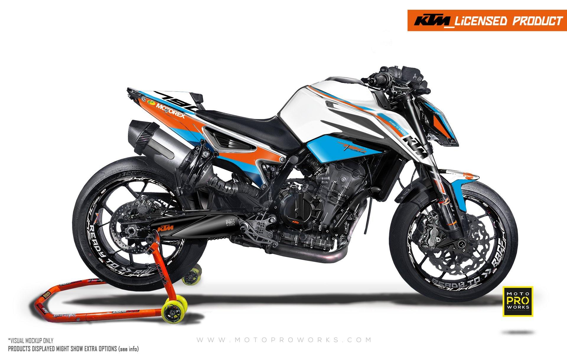 "KTM 790/890 R Duke GRAPHIC KIT - ""En Route"" (Monaco)"