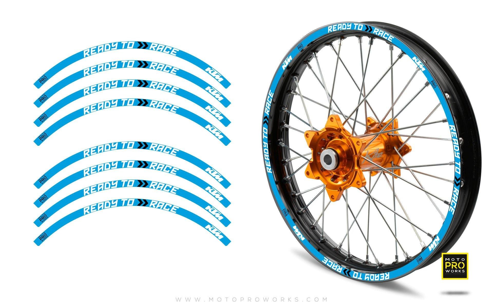 "Rim Stripes - KTM ""Ready To Race"" (Blue)"