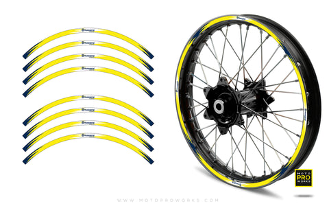 "Rim Stripes - ""Husqvarna/FLASH"" (yellow)"