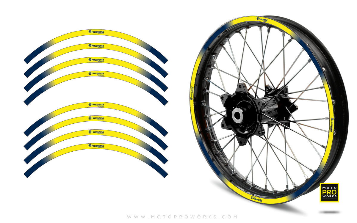 "Rim Stripes - ""GRADIENT"" Husqvarna (yellow) - MotoProWorks 