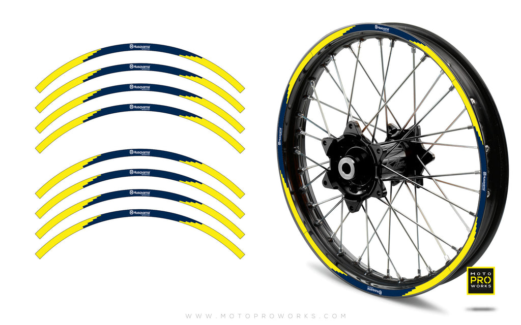 "Rim Stripes - ""Husqvarna/PIXELATE"" (yellow)"