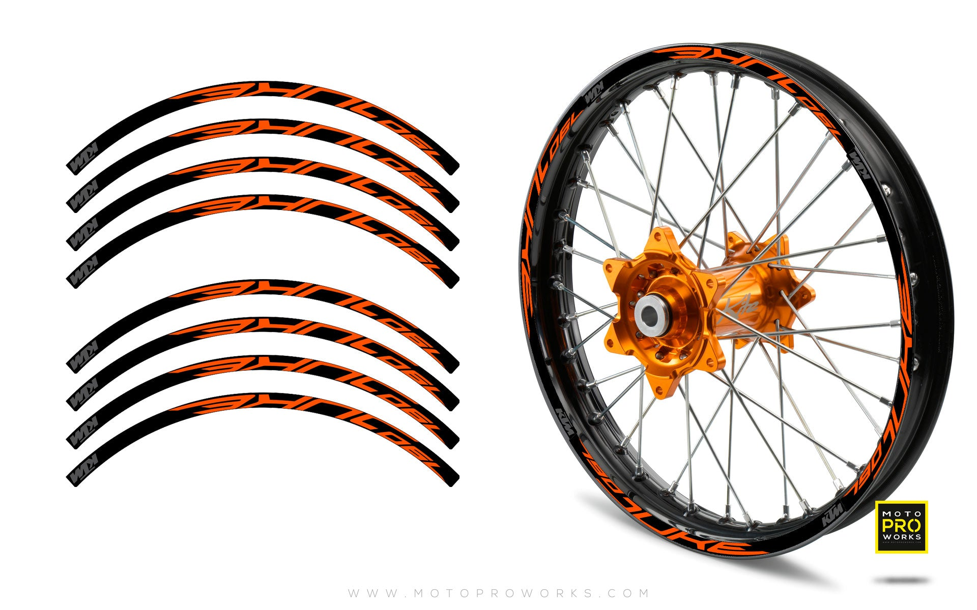 "Rim Stripes - ""790"" KTM (orange) - MotoProWorks 