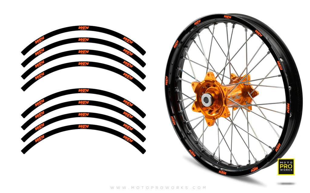 "Rim Stripes - ""SOLID"" KTM (black) - MotoProWorks 
