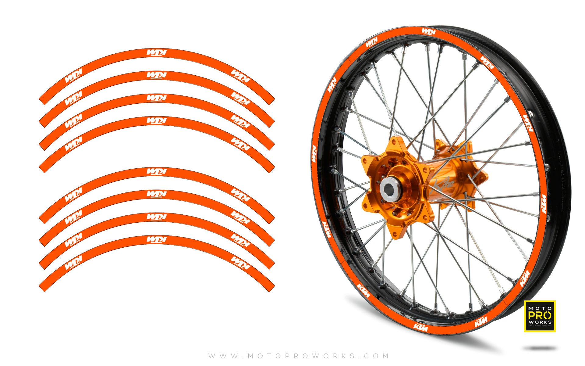 "Rim Stripes - ""SOLID"" KTM (orange) - MotoProWorks 