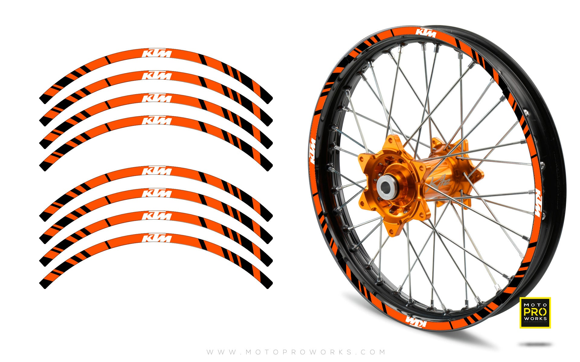 "Rim Stripes - ""STRIPE"" KTM (orange) - MotoProWorks 