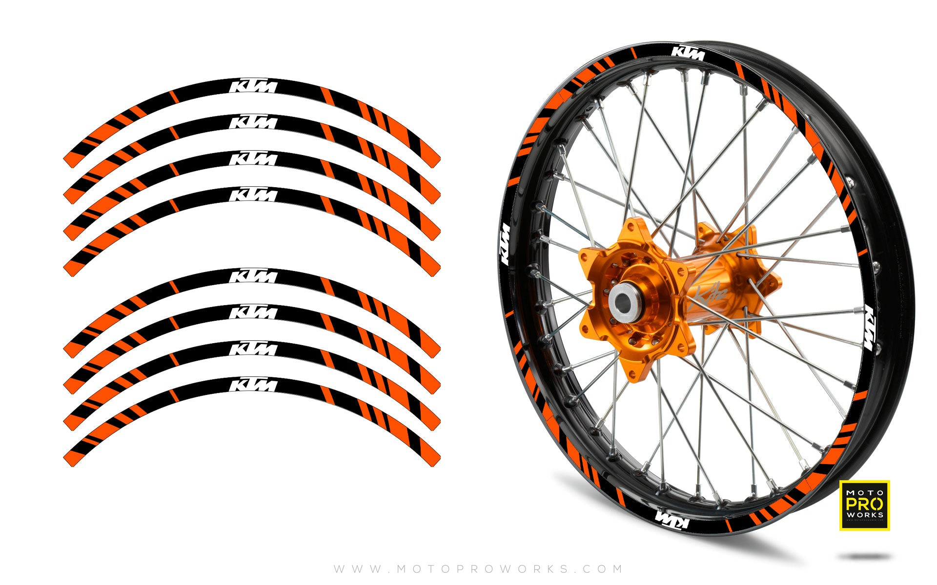 "Rim Stripes - ""STRIPE"" KTM (black/orange) - MotoProWorks 