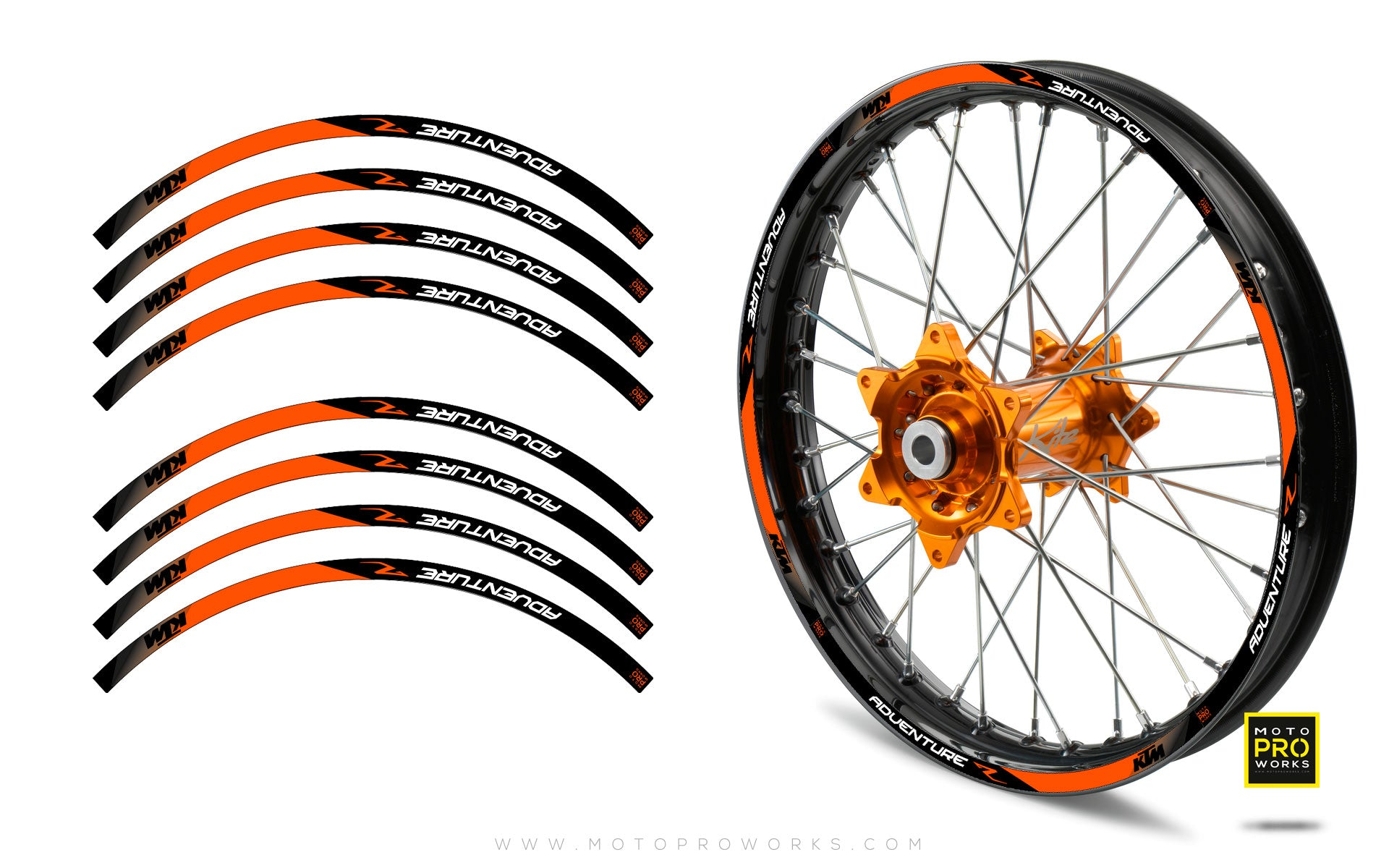 "Rim Stripes - ""SUPER ADVENTURE"" KTM (orange) - MotoProWorks 