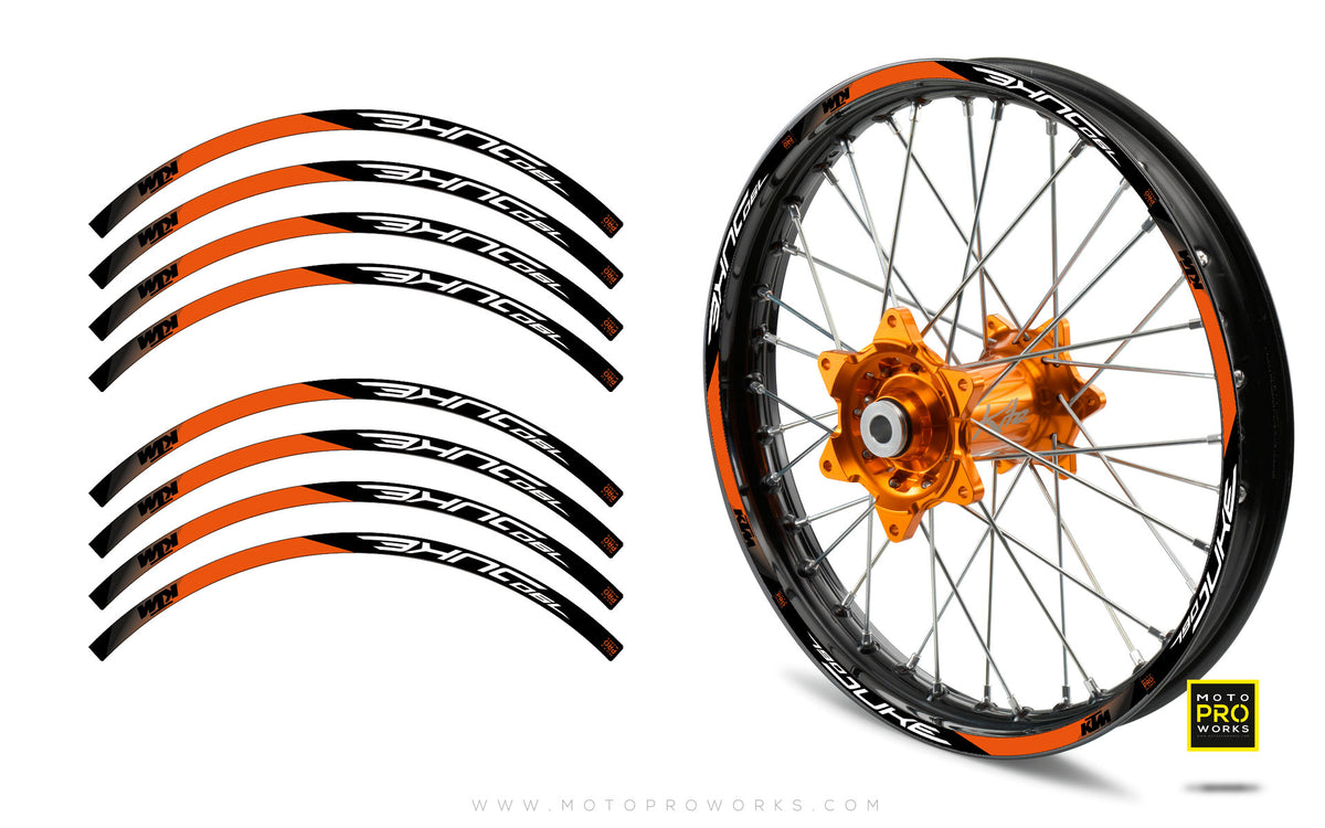 "Rim Stripes - ""SUPER DUKE"" KTM (orange) - MotoProWorks 