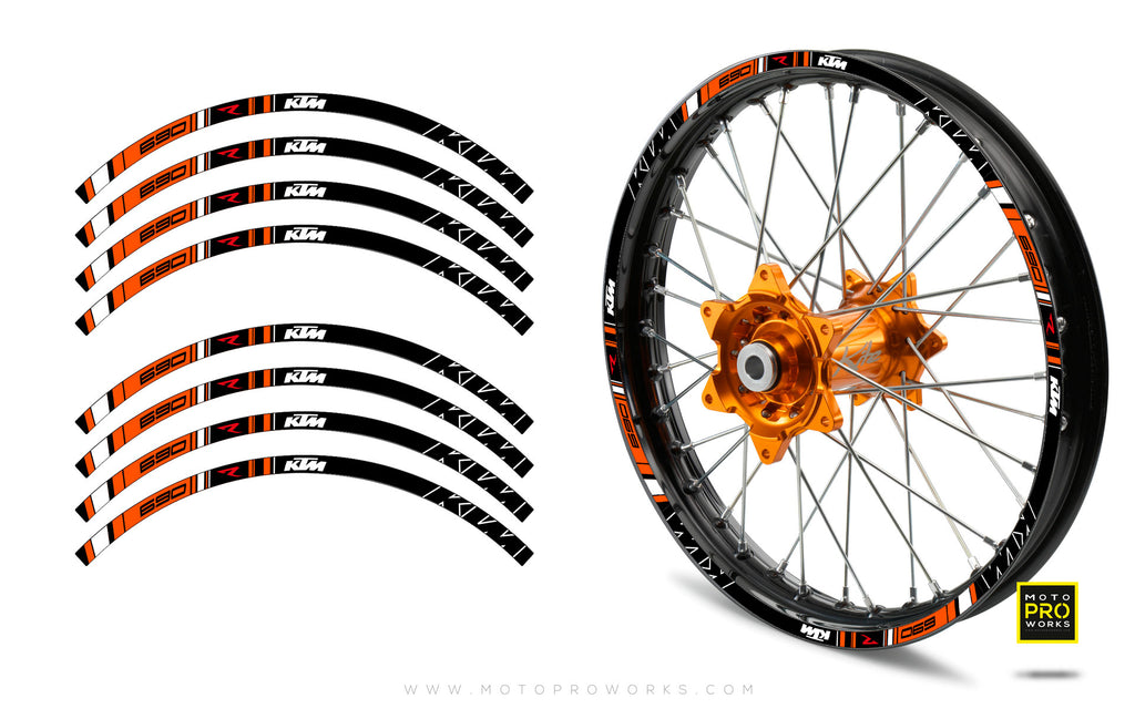 "Rim Stripes - ""TRACK"" KTM (black) - MotoProWorks 