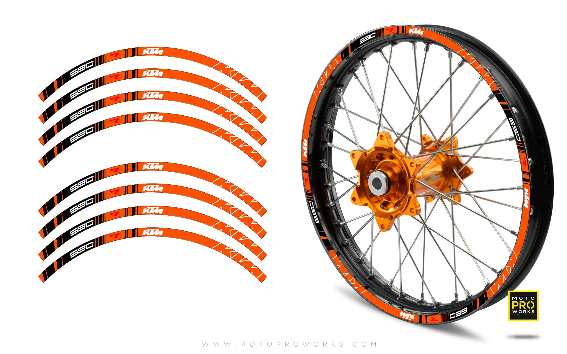 "Rim Stripes - ""TRACK"" KTM (orange) - MotoProWorks 
