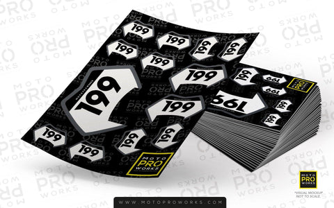 "Multiple ID Sticker Sheet - ""Mini Badges"" - MotoProWorks 