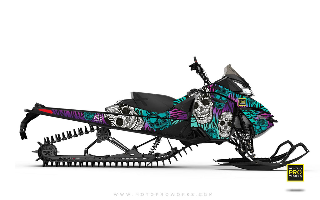 "Ski-Doo Graphics - ""Fiesta"" (purple solid) - MotoProWorks 