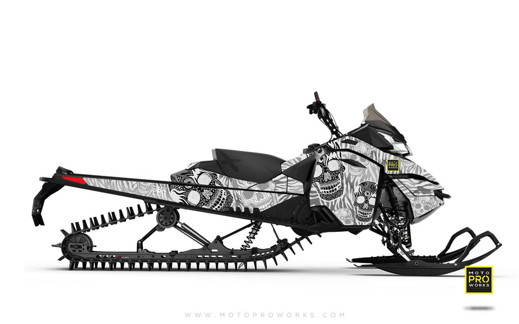 "Ski-Doo Graphics - ""Fiesta"" (white solid) - MotoProWorks 