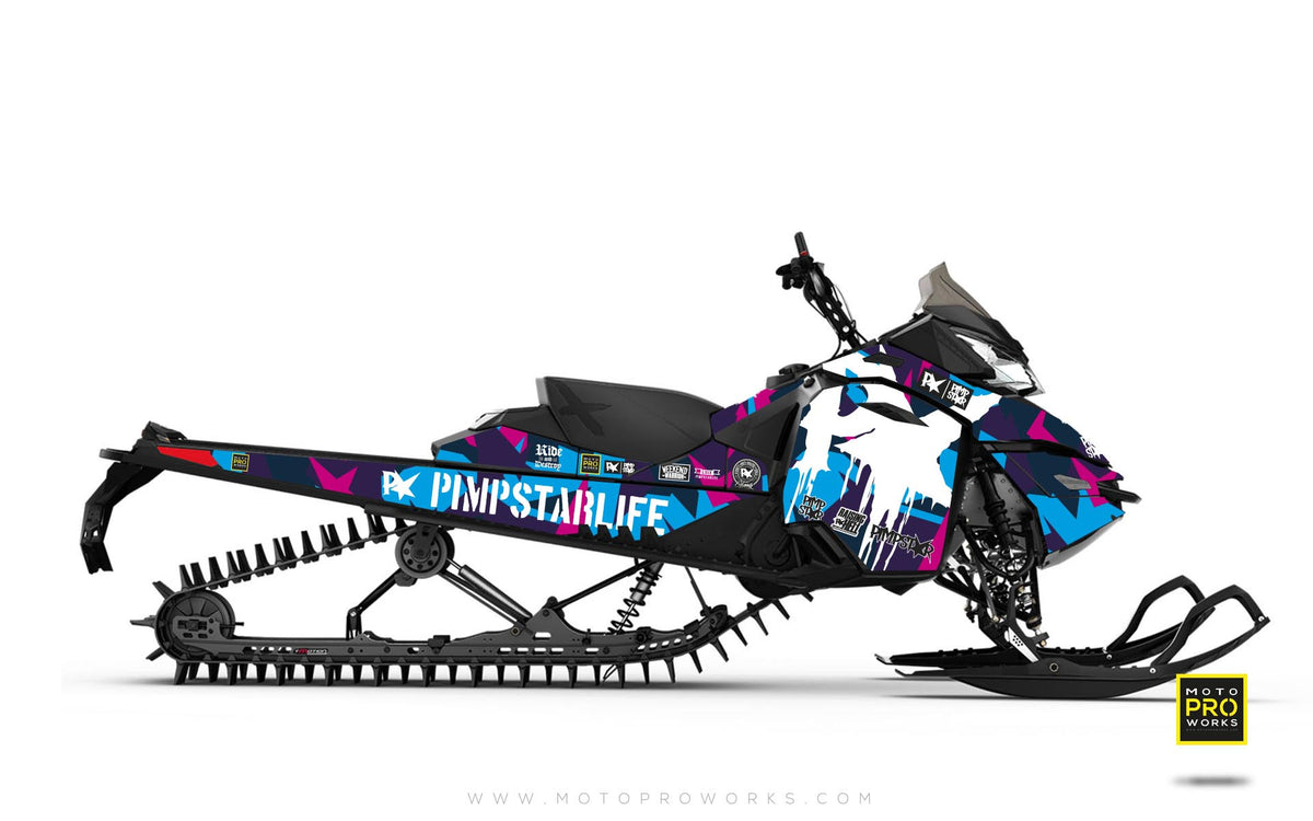 "Ski-Doo Graphics - ""M90"" (pink) - MotoProWorks 