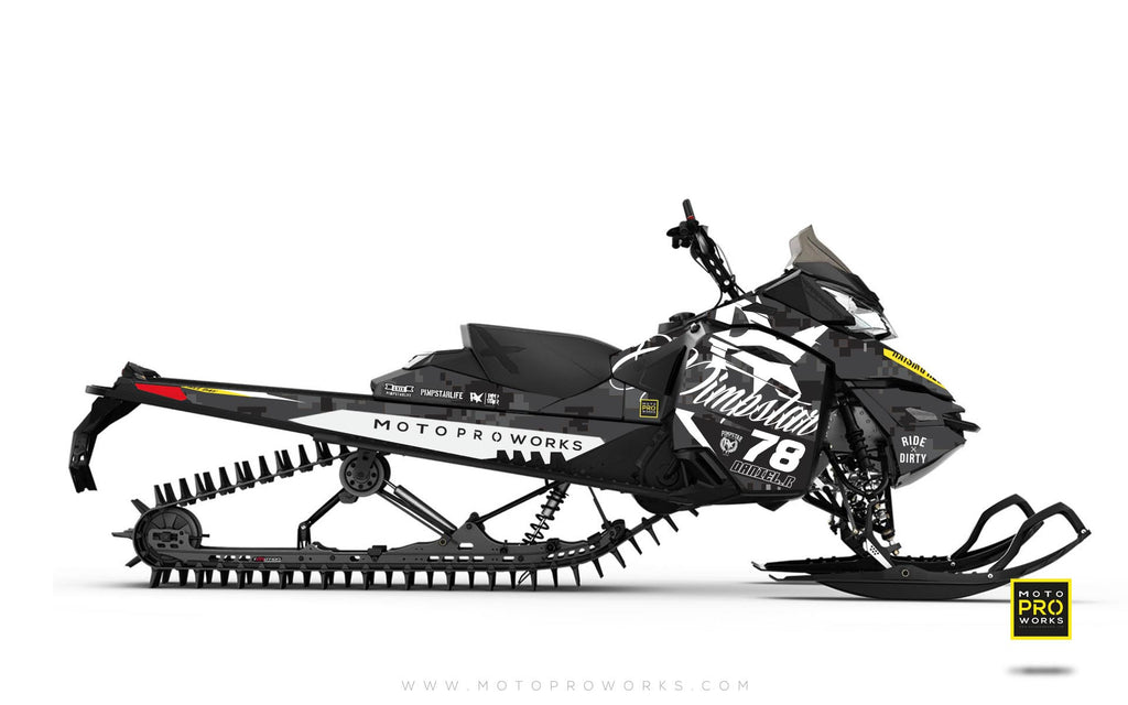 "Ski-Doo Graphics - ""Marpat"" (black)"