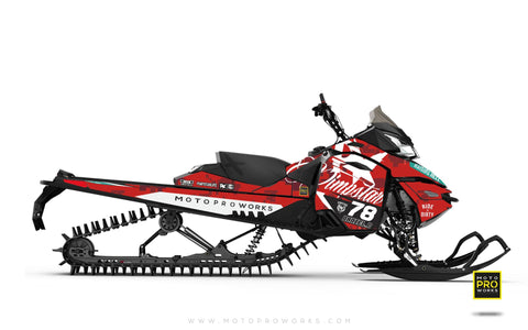 "Ski-Doo Graphics - ""Marpat"" (red) - MotoProWorks 
