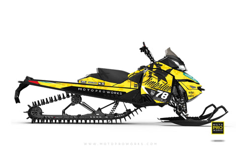 "Ski-Doo Graphics - ""Marpat"" (yellow) - MotoProWorks 
