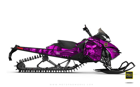 "Ski-Doo Graphics - ""Ssskully"" (pink) - MotoProWorks 