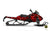"Ski-Doo Graphics - ""Ssskully"" (red) - MotoProWorks 