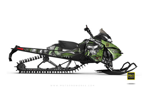 "Ski-Doo Graphics - ""Ssskully"" (venom) - MotoProWorks 