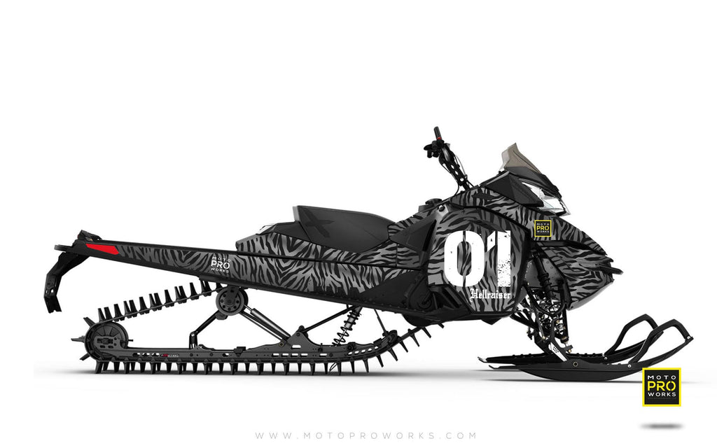 "Ski-Doo Graphics - ""Stripey"" (solid grey) - MotoProWorks 