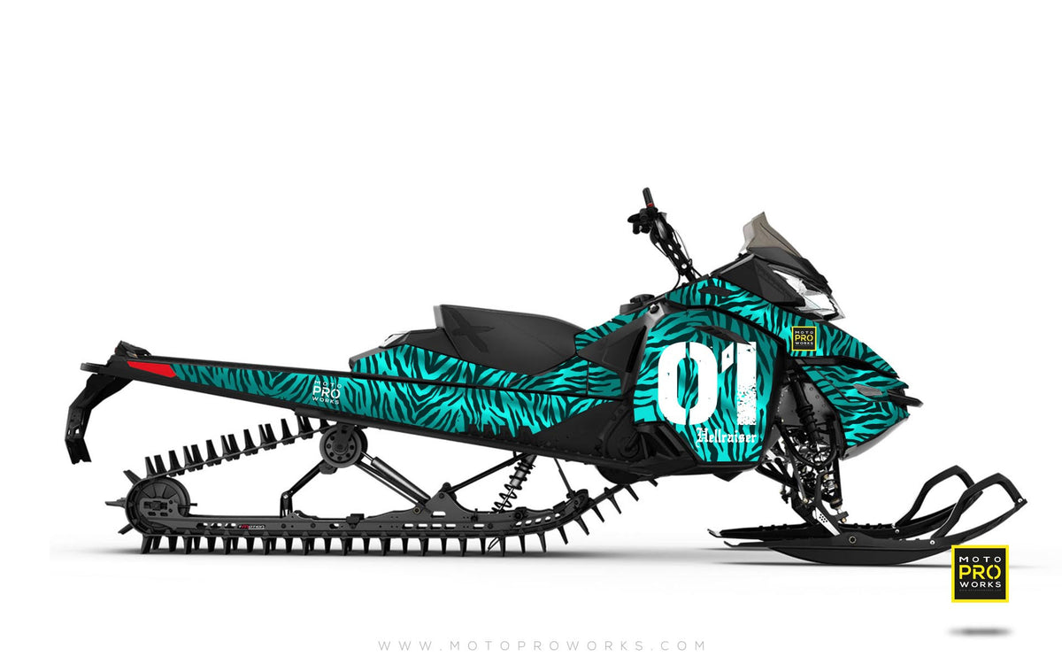 "Ski-Doo Graphics - ""Stripey"" (mintu) - MotoProWorks 