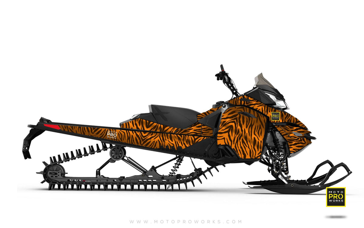 "Ski-Doo Graphics - ""Stripey"" (solid orange) - MotoProWorks 
